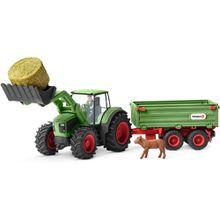 Schleich Traktor mit Anhänger