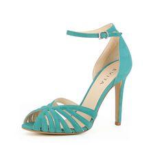 EVITA Damen Sandalette ALESSANDRA Klassische Sandaletten petrol Damen