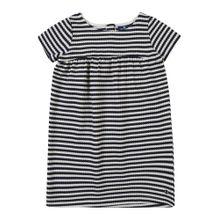 TOM TAILOR Kleid dunkelblau / weiß