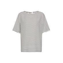 PIECES T-Shirts 'MISA' schwarz / weiß