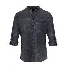 tigha Herren Hemden Aldous schwarz (vintage black)