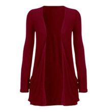 Funky Boutique Damen Cardigan mit Tasche : Farbe - Wein : Größe: 12-14 ml