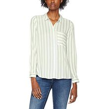 ONLY Damen Bluse Onlcandy L/S Shirt Noos WVN, Mehrfarbig (Cloud Dancer Stripes:Green Stripes), Small (Herstellergröße: 36)