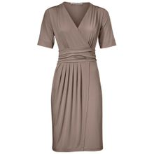 Heine Jerseykleid in Wickel-Optik taupe