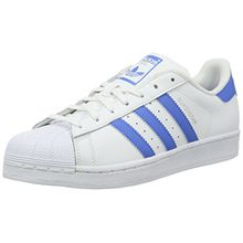 adidas Originals Unisex-Erwachsene Superstar Low-Top, Weiß (FTWR White/Ray Blue/Ray Blue), 37 1/3 EU