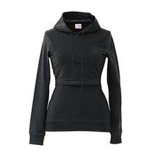 Boob Design 'B-Warmer Hoodie' Stillpullover Umstandspullover, Größe:M (38/40);Farbe:schwarz
