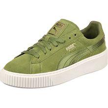 Puma Damen Sneakers Suede Platform Oliv (45) 36