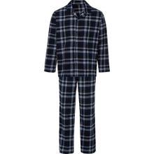 SCHIESSER Pyjama nachtblau / grau