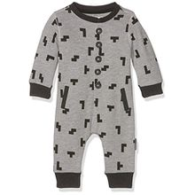 Noppies Baby-Jungen Body B Polyesteraysuit Sweat Intros, Grey Melange, 74