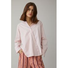 CLOSED Asymmetrische Stehkragenbluse soft pink