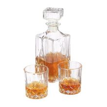 relaxdays 3-tlg. Whisky-Set mit Karaffe transparent
