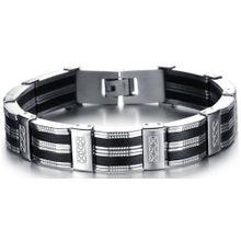 FIRETTI Armband schwarz / silber