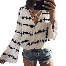 Minetom Damen Sommer Lange Ärmel T-Shirt V-Ausschnitt mit Schnürung Vorne Oberteil Tops Chiffon Bluse Shirt Damen Chiffon-Bluse mit V-Ausschnitt Kurzarm-Spitze Hemden Weiß-Schwarz DE 38