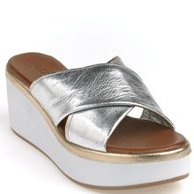 INUOVO Pantolette silber