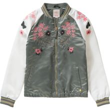 ESPRIT Blouson für Mädchen grün / pink / weiß