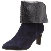 Tamaris 25064, Damen Kurzschaft Stiefel, Blau (Blau, Grau (Navy/Graph STR 824)), 37 EU (4 Damen UK)