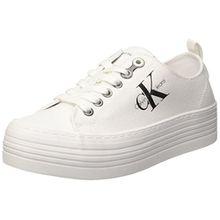Calvin Klein Damen Zolah Canvas Sneaker, Elfenbein (White R0673Wht), 41 EU
