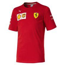 PUMA T-Shirt 'Scuderia Ferrari' gelb / rot / weiß