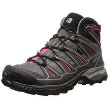 Salomon X Ultra Mid 2 GTX, Damen Trekking- & Wanderstiefel, Grau (Detroit/Autobahn/Hot Pink), 42 EU (8 Damen UK)