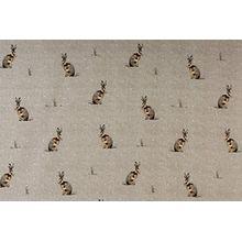 1 Meter Fryetts Hartley Hare Kaninchen Natürlich Stoff Vorhang Polster Basteln Gestrichelter