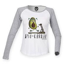 Damen Raglan Baseball T Shirt AVO-CARDIO Avocado Mode von Buzz Shirts