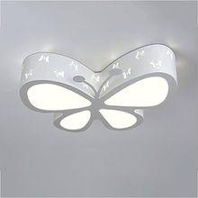 PIAOLING Moderne einfache LED-Deckenleuchte, personalisierte kreative Schmetterling-förmige Deckenlampe, Kinderzimmer Studie Mode Beleuchtung ( Color : White-S )