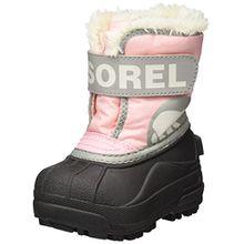 Sorel Childrens Snow Commander Unisex-Kinder Schneestiefel, Pink (Cupid/Dove), 23 EU