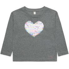 Esprit Langarmshirt - Pailletten Herz