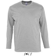 Sols Langarm T-Shirt Monarch, Grey Melange, M