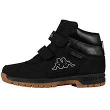 Kappa BRIGHT MID KIDS, Unisex-Kinder Kurzschaft Stiefel, Schwarz (1111 black), 33 EU (1 Kinder UK)