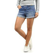 Blend She Andreja Damen Jeans Shorts Kurze Denim Hose Mit Destroyed-Optik Aus Stretch-Material Skinny Fit, Größe:XS, Farbe:Light Blue Denim (29030)
