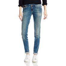 Mavi Damen Skinny Jeanshose LINDY, Gr. W32/L32, Blau (Blau Mid Used Ibiza)