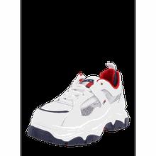 Chunky Sneaker aus Leder und recyceltem Mesh