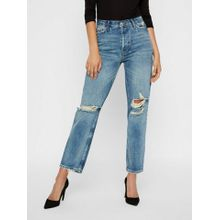 Vero Moda VMALVA Destroyed Normal Waist Loose Fit Jeans