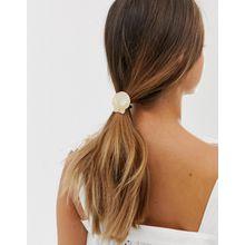 DesignB London - Haarband aus künstlichem Perlmutter-Resin - Cremeweiß
