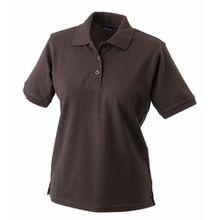James & Nicholson Damen Poloshirt Ladies' Polo, Gr. Medium, Braun