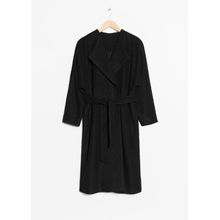 Oversized Wool Coat - Black