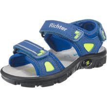 RICHTER Sandalen blau / neongrün / schwarz
