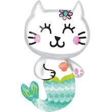 Amscan Folienballon SuperShape Meerjungfrau Mermaid Cat