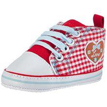 Playshoes Turnschuhe Sneaker Herzchen Love 121541, Baby Mädchen Krabbelschuhe, Rot (Rot 8), 18 EU