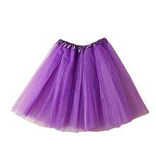 Damen Tütü Tutu Minirock Petticoat Tanzkleid Ballettrock Pettiskirt Unterrock, Mutter, Purpur