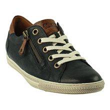 Paul Green 4128-042 Damen Sneaker aus Hochwertigem Leder Filigrane Kontrastnähte, Groesse 4 1/2, Dunkelblau
