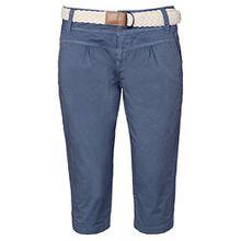 Fresh Made Damen Capri im Chino Design mit Flecht-Gürtel | Elegante kurze Hose ideal für den Sommer blue S