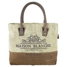 Sunsa Damen Vintage Tasche Shopper Schultertasche Handtasche aus Canvas