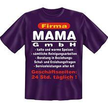 T-Shirt Firma Mama GmbH Geburtstag Muttertag Fun Shirt Geschenk geil bedruckt mit Beste Mutter Urkunde