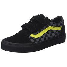 Vans Unisex-Kinder Old Skool V Suede Sneaker, Mehrfarbig (Checkerboard/Asphalt/Reflective), 33 EU