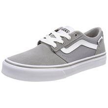 Vans Unisex-Kinder Chapman Stripe Sneaker, Grau (Suede/Canvas), 32 EU