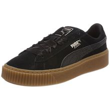 Puma Damen Suede Platform Bubble WN's Sneaker, Schwarz Black, 40.5 EU