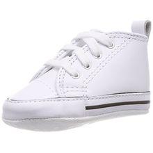Converse First Star Cuir 022130-12-3, Unisex - Kinder Sneaker, Weiß (Blanc), EU 17