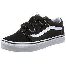 Vans OLD SKOOL V, Unisex-Kinder Sneakers, Schwarz (Black/True Whit 6BT), 28 EU